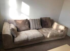 4 seater beige sofa