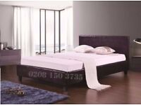 【❋❋ SALE PRICE £79 ❋❋ 】FAUX LEATHER UPHOLSTERED BED FRAME IN SINGLE,SMALL DOUBLE,DOUBLE & KING SIZE