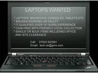 Macbook Laptops etc wanted