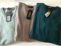 3 x POLO RALPH LAUREN KNITTED SWEATERS XL