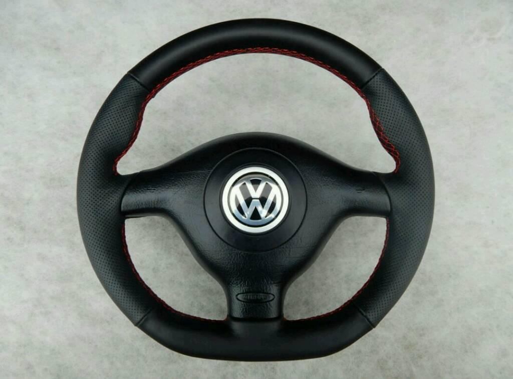 Vw Golf Mk4 Flat Bottom Steering Wheel With Airbag In