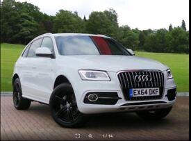 Audi Q5 S-Line Plus Diesel Automatic SUV 2014, White, 25k miles, 2 owners