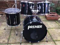 Drums - Premier APK Piece Drum Kit - 90's era - Great Workhorse Kit - 3 or 4 piece