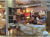 Barista - busy Canada Water Cafe - latte art and great milk a must - £9.50 + tips+ lunch + training