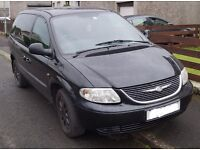 For Sale Black Chrysler VOYAGER TOURING CRD 2.5 estate. passed MOT 30/08/2016