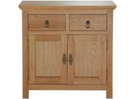Knightsbridge 2 Door 2 Drawer Mini Sideboard - Oak/Oak Effect