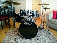 Mapex Horizon Drum Kit, Mapex Double Kick Pedal, Stool