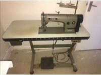 ❤️ FULLY WORKING BROTHER INDUSTRIAL SEWING MACHINE B55 - MK2 / DB2 - B714 - 3. WITH ORIGINAL TABLE