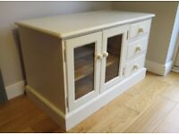Lovely Solid Pine Shabby Chic TV Cabinet in Farrow & Ball