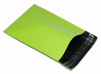 200 x NEON GREEN Plastic Mailing Bags 10x14 mm 10 x 14 250x350mm poly POSTAL