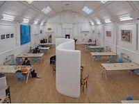 40 desks available now for £200.00 per desk per month