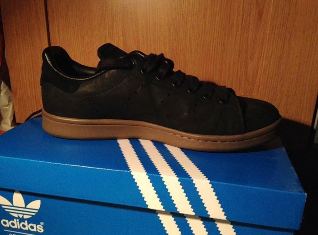 66ddcdac187 Adidas Stan Smith Men's Black/Brown Size: 8 | in Stockton-on-Tees ...