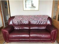 Italian Leather Sofa's. ( matching )