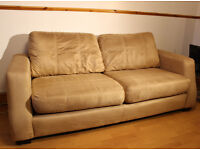 *FREE* DFS SUEDE STYLE 3 SEATER, 1 SEATER, POUFFE SOFA SUITE