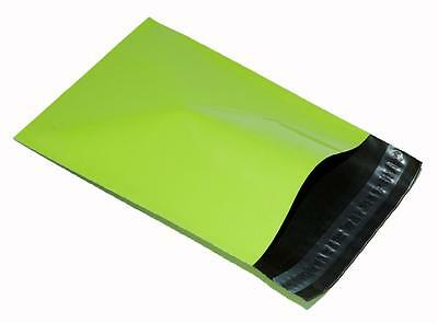 new 5x NEON GREEN Plastic Mailing Bags 5 10x14 mm 10 x 14 250x350mm poly POSTAL