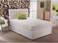 BRAND NEW!!! DOUBLE DIVAN BED W/ SEMI ORTHOPAEDIC MATTRESS WE DO ALL SIZES SINGLE BED KINGSIZE BED