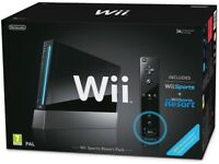 Nintendo Wii (Black) with Wii Sports + Wii Sports Resort: Includes Wii Remote Plus