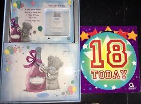 Brand New Me to You Bear 18th Birthday Gift Set Frame Album Badge RRP£16