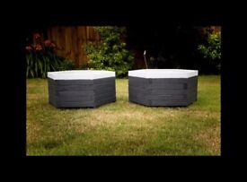 2 Brand New Stylish Planters Garden Pots painted wooden quality great gift Christmas Present