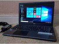 "High Spec Acer Laptop Intel Core i3-3217U,8GB RAM,Wifi/Webcam/hdmi/USB3.0,15.6"" LED Display,Win 10"