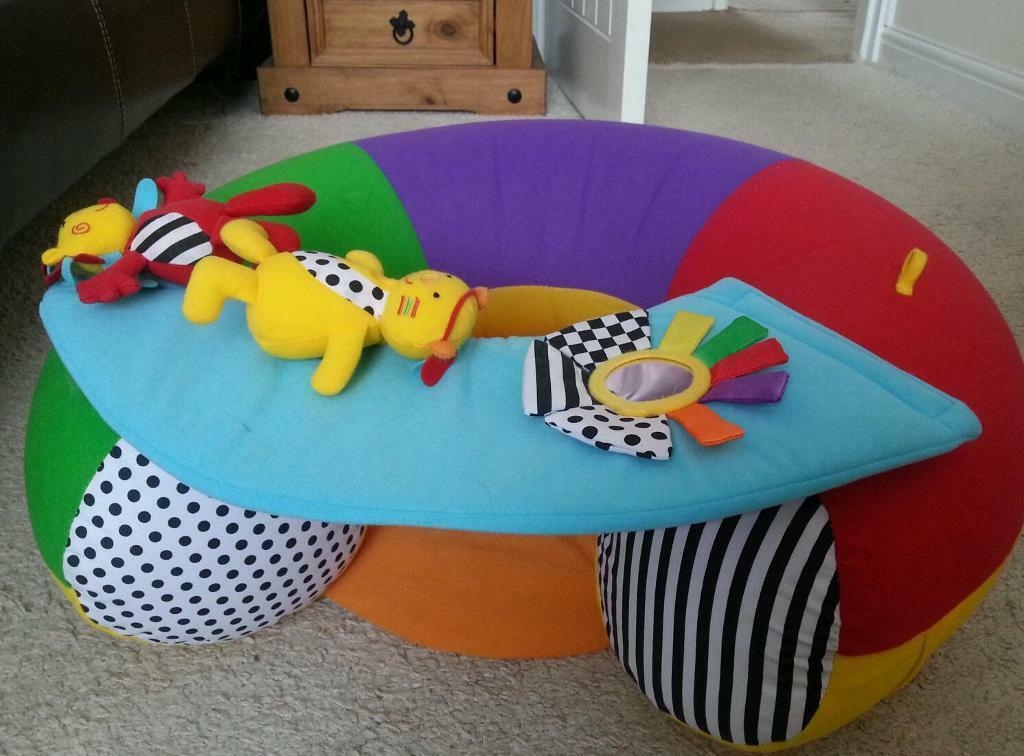 Brightly Coloured Baby Support Ring Sit Me Up Cushion In