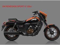 * Band New 2017 * UM RENEGADE SPORT S 125cc. Warranty. Nationwide delivery. Main dealer:
