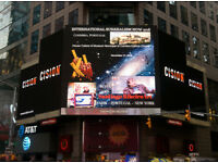 Ruiva and Santiago Ribeiro Art at Times Square in New York city