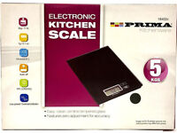 PRIMA 5KG ELECTRONIC KITCHEN SCALE LCD WEIGHING FOOD COOKING MEASURING AUTO DIGITAL