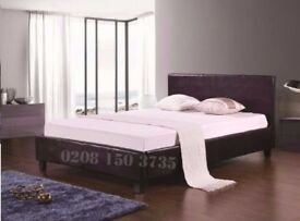❋❋【FULL ITALIAN DESIGN 】❋❋ FAUX LEATHER BED FRAME IN SINGLE,SMALL DOUBLE,DOUBLE & KING SIZE