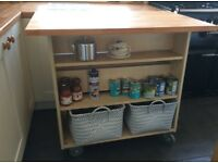 Kitchen island unit 100 cm long. 920 high, 61 cm wide
