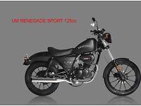 * Brand New 2017 * UM RENEGADE SPORT 125cc. Warranty. Nationwide delivery. Main dealer: