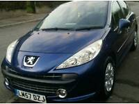 Peugeot 207 just serviced low mileage 1.4 petrol manual cheap insurance