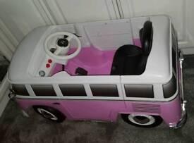 Kids electric car ride on campervan