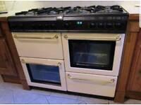 Cream Rangemaster 90cm gas cooker