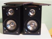 SANDSTROM 50 WATTS METAL DOME AND WOOFER BLACK GLOSS BOOKSHELF SPEAKERS