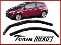 Brand New HEKO Wind Deflectors for Ford Fiesta 3 door 2009 - 2017 2pc Hatchback ST Van