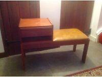 Retro original Chippy telephone table seat