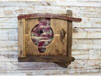 Reclaimed wood hobbit cupboard