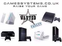 Wanted! Best prices paid for faulty spares or repair Xbox One PS4 Wii U 360 PS3 3DS 2DS consoles