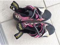 Solutions sportiva aggressive climbing shoes
