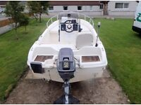 Selva 4.5 sports fishing Boat.