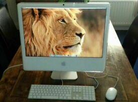 20' Apple iMac White Desktop 2.13GHz 3gb Ram 250gb HDD iMovie iTunes Logic Pro Adobe CS6 Ableton