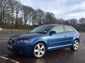 2004 Audi A3 2.0 TDI SPORT 140 BHP 6 Spd.Blue. £1975 ONO.