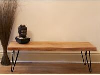 Beautiful Handmade Solid Oak Table with Hairpin Legs