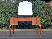 Queen Anne Mirrored Dresser / Dressing Table