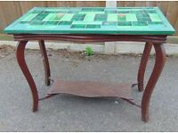 antique art nouveau tile top coffee table