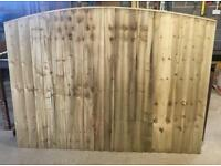 🐌 Bow Top Pressure Treated High Quality Wooden Garden Fence Panels
