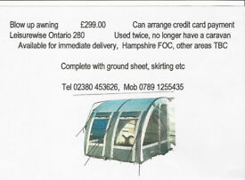 INFLATEABLE CARAVAN AWNING, LEISUREWISE ONTARIO 280