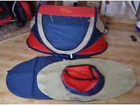 Sun Essentials Nsccesity Deluxe UV Travel Cot (RED)