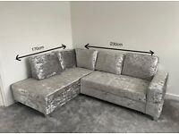 COMFY CORNER SOFA BED - AMAZING CONDITION, BASICALLY NEW